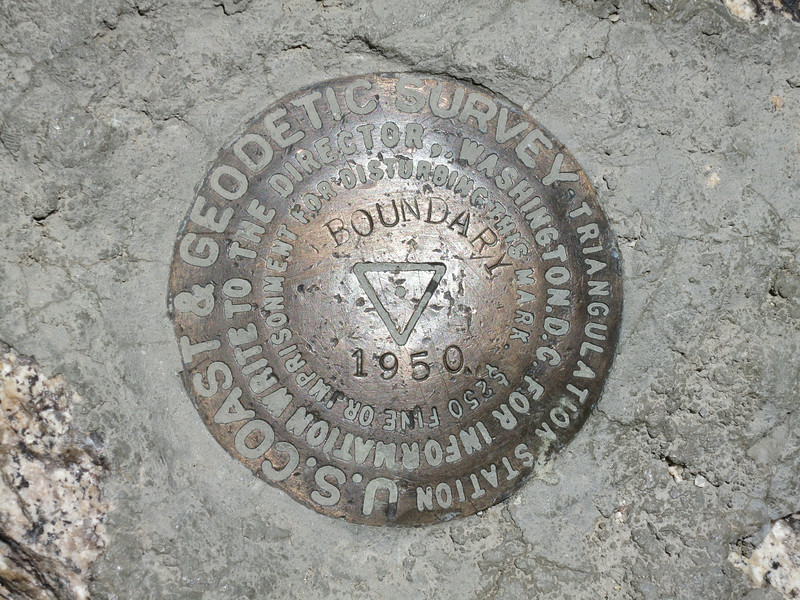 "Benchmark ""Boundary 1950"""