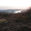 High Point Lake at sundown.