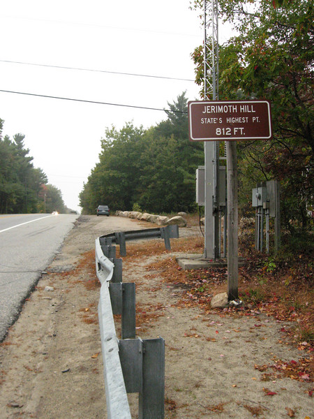 Roadside sign posted on north side of Route 101.