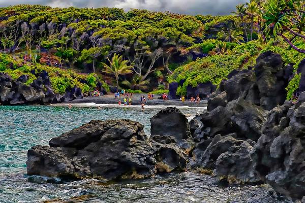 Waianapanapa Black Sand Beach, Maui