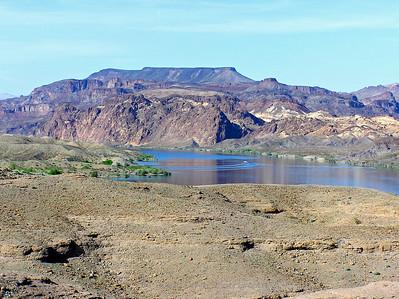 Colorado River south of Hoover Dam         Black Canyon