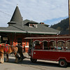 074 CNJ Railroad Depot and Carbon County Visitors Center • Horse-drawn trolley rides