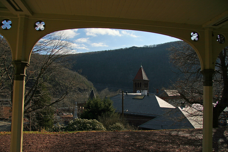 059 View of Jim Thorpe, PA from Asa Packer Mansion