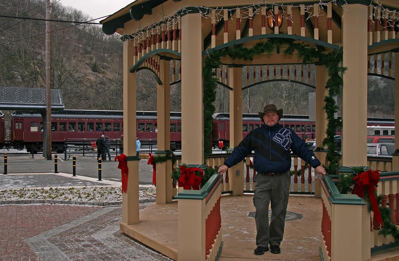 035 Doug in the Hazard Square gazebo in Jim Thorpe, PA