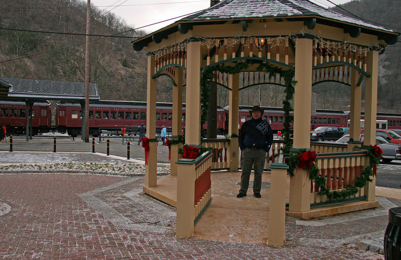 034 Doug in the Hazard Square gazebo in Jim Thorpe, PA