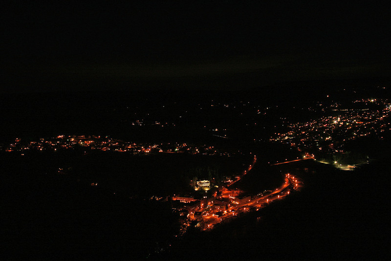065 Night view of Jim Thorpe, PA from Flagstaff Mountain