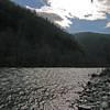 052 Rain swollen Lehigh River at town of Jim Thorpe, PA