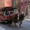 086 Horse-drawn trolley on Upper Broadway in Jim Thorpe, PA