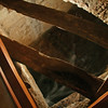 093  Hole built into the floor through which Mauch Chunk Creek can be viewed in Flow Food & Drink
