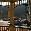 039 Looking out the Hazard Square gazebo in Jim Thorpe, PA