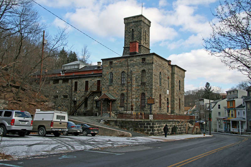 045 The Carbon County Jail in historic Mauch Chunk is an excellent example of 19th-century prison construction