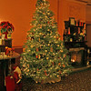 016 The Inn at Jim Thorpe • Lobby Christmas tree and fireplace