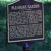 Pleasure garden historical marker