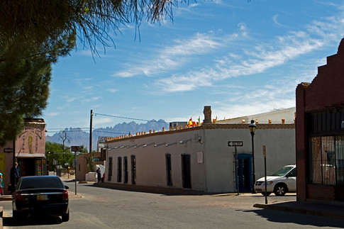 Old Mesilla section of Las Cruces. This Adobe building was the first capital of New Mexico