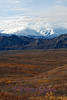 Another look at Denali Mountain.  See how quickly the clouds change the scene.  Just about to lose the peaks.