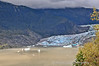 The very dirty looking blue ice is Mendenhall Glacier.