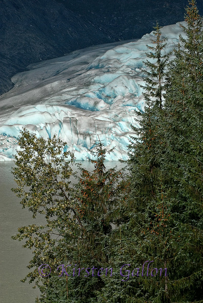A little closer  view of the glacier.  Never really got the angle on it I wanted.  At least not  from the trail we were on.