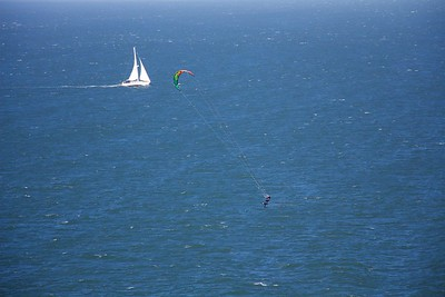 Sailboat and Windsurfer