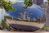 "Cloud Gate sculpture located in Millennium Park.  Better known as the ""bean"" due to its shape.  Designed by Anish Kapoor."