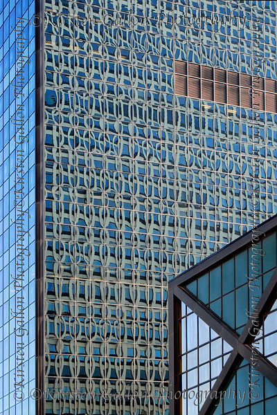 I just thought it was interesting how the reflection of one building created a unique pattern in the windows of another building.