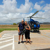 Helicopter, landing at Lihue