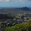View of Honolulu and Diamond Head crater from Mt. Tantalus