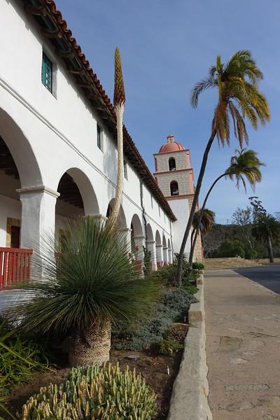 Front of the Santa Barbara Mission
