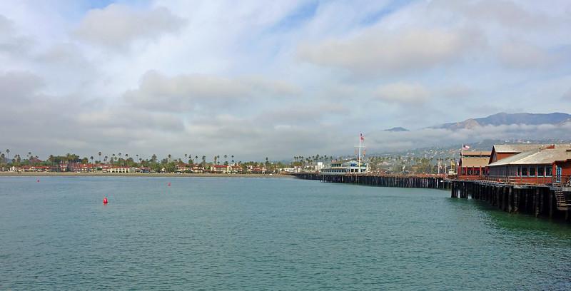 Looking back at Santa Barbara from Stearns Wharf (Built in 1872)