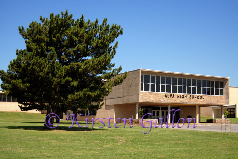 Alva High School.  Home of the Goldbugs.