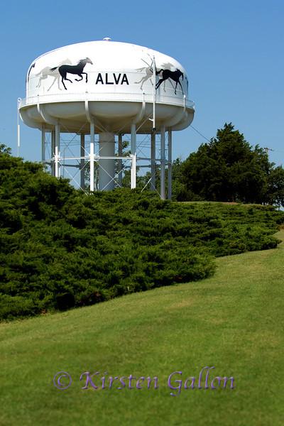 Alva water tower.
