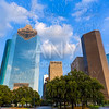 Huston skyline from west at Texas US