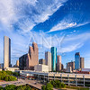 Houston Skyline North view in Texas US