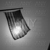 US american symbol flag over Black and white city