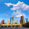Huston skyline downtown from west Texas US