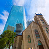 Houston cityscape Antioch Church in Texas US