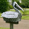 Pelikan mail post wooden mailbox in Texas