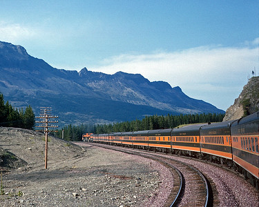 August 1966.  The Western Star approaching the summit of Marias Pass.