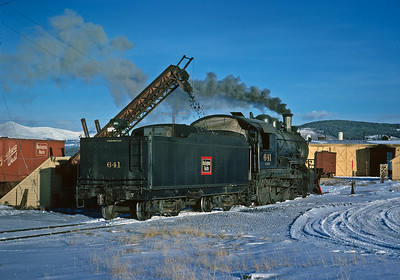 December 15, 1961.  C&S 641 takes coal before going to work on the C&S Climax branch.