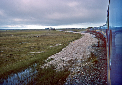 September 1992.  Approaching Churchill.  The train is a VIA train but the operating crew is CN, so I have filed this under CN.