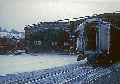 March 1967.  Saint John, NB.  Union Station train shed.