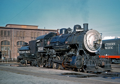SP 2836 in stationery boiler service at Bayshore shops.  Circa 1959.