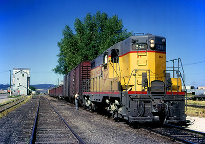 August 1966.  Eastbound at Ashton, ID.