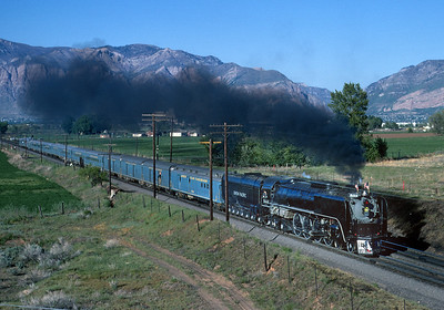 May 10, 1969. Gold Spike Centennial  Special departing Ogden on its return leg to Salt Lake City following the Centennial ceremonies at Promontory National Historic Site.  The train originated in New York City and operated roundtrip to Ogden.  It was most closely associated with former NKP 759 but the legs on the UP were hauled by diesels except for the Salt Lake Ogden roundtrip.