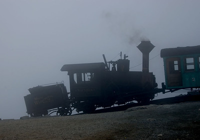 Typical weather at the top of Mount Washington.