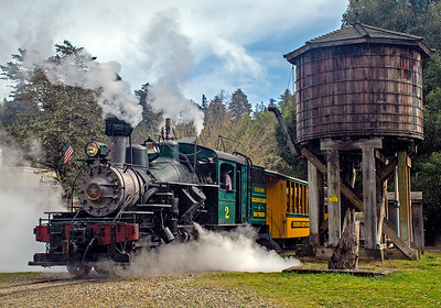 March 7, 2020.  Leaving Roaring Camp station .