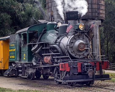 March 7, 2020.  No. 2 sits at the Roaring Camp depot ready to leave.