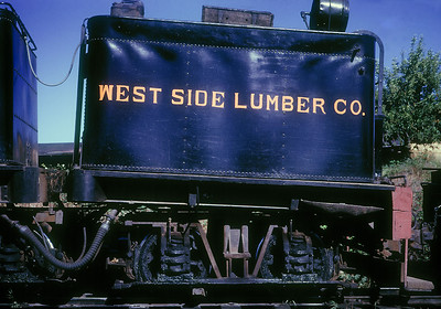 Tender on a Westside shay at Tuolumne.  June 1961.