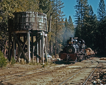 A down train at the Camp 8 tank.  October 1980.