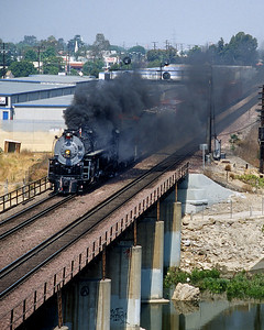 June 1999.  Leaving Los Angeles heading to Sacramento for the 1999 Railfair and the California State Railroad Museum.