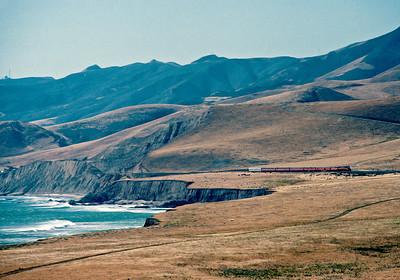 May 1989.   Traveling along California's Lost Coast.